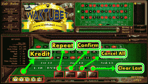 tombol pada permainan roulette