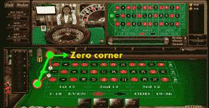 zero corner roulette