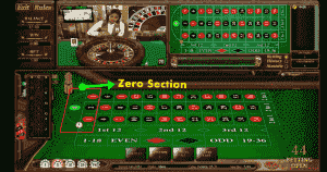 zero section roulette